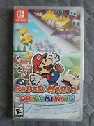 Paper Mario The Origami King Standard Edition Game Nintendo Switch 2020 New Seal