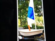 9 Ft. Dinghy W/trailer Rigging Sail Rudder And Oars. Excellent. Local Pickup.