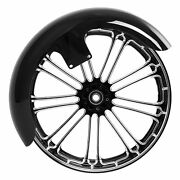 Front Fenderand21and039and039 X 3.5and039and039 Front Wheel Rim Dual Disc Fit For Harley Touring 08-21
