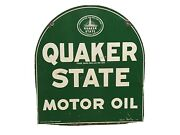 Vintage Quaker State Double Sided Tombstone Sign