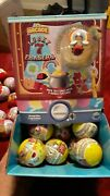 Lot Of 28 Orb Arcade Lucky 7 Erasers Toy Vending Machine Capsule With Display