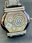 Authentic Swiss Made Motion Full Diamonds Lady Watch Black Pvd H15