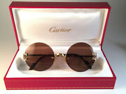 Vintage Madison Rimless Special Edition Gold Brown Lens Sunglasses