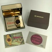 Rare Vintage 1974 Benrus Red Led Menand039s Watch With Box And Papers
