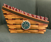Longaberger 1997 Holiday Sleigh Basket - Includes Liner, Protector, Tie-on