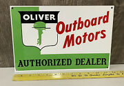 Oliver Outboard Motors Authorized Dealer Metal Sign Boat Marine Water Gas Oil