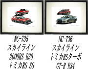 Nc-735 Skyline Rs/tomica Rs Nc-736 Tomica Rs/gt-r R34 Limited Edition 300 Prints