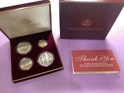 1995 Us Olympic Coins Of The Atlanta Games 4 Coin Proof Set W/gold Coin B42.a