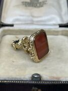 19th Century Carnelian Fob Length 3.1cms Total Weight 15.9grams