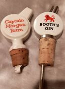 Vintage Wade Captain Morgan Rum And Booths Gin Ceramic Bottle Pourers X 2