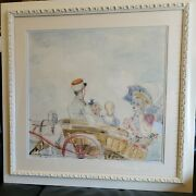 Constantin Terechkovitch Original Watercolor Painting Russian French Listed