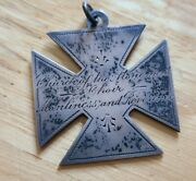 Scarce 1880's Church Of The Atonement Brooklyn Ny Silver Choir Medal Very Cool