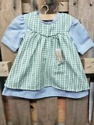 Rare New In Box American Girl Addy's Work Dress And Clothespins