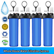 1-4 Sets 20and039and039 Big Blue Bb Whole House Water Filter Housing - 1and039and039 Outlet/inlet