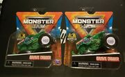Spin Master Monster Jam Series 17 Green Cast Grave Digger 164 2021 In Hand Lot2