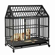 37andrdquo/42.5andrdquo Heavy Duty Dog Kennels And Crates For Large Medium Dogs Hard-sided Es