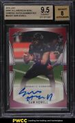 2019 Leaf Army All-american Bowl Shimmer Red Sam Howell Rookie Auto 1/1 Bgs 9.5