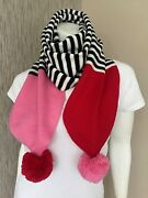 Kate Spade Stripe Pompom Scarf Matching Hat And Gloves Available Bnwt