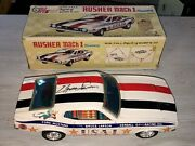 Vintage Autographed Bruce Larson Taiyo Rusher Mach 1 Mustang Usa-1 Tin Battery