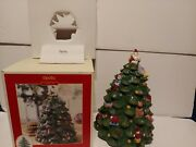 Spode Large Christmas Tree Cookie Jar Hand Painted Christmas Centerpiece 13×10