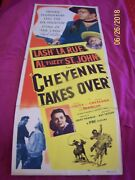 Cheyenne Takes Over Original 1948 Insert Movie Poster Signed By Lash Larue