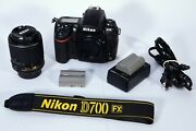 Nikon D700 Digital Slr Camera With 55-200mm Nikkor Lens And Accessories