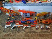Nerf Lot - 1 Zombie Strike Sword 39 Blasters Accessories And Darts
