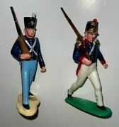 Vintage Marx 1960s Warriors Of World Mexican War Marching Figures X 2 Wow