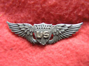 763. Wwi 2 Inch Robbins Style Military Aviator's Badge In Sterling, Solid Back