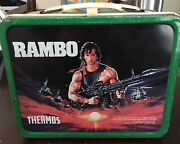 Vintage Rambo Metal Lunch Box Lunchbox No Thermos 1985