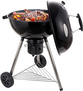 Cusimax Charcoal Grill Portable Bbq Grill Kettle 22.5in Outdoor Grills And Smokers