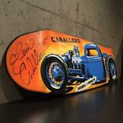 New Steve Caballero Sign Deck Skateboard Out Of Print Blue Hot Rod Collectors