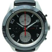 Mont Blanc Timewalker Watch Leather Belt Stainless Steel Automatic Black 6865