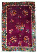 Handmade Antique Art Deco Chinese Rug 5.10and039 X 8.5and039 182cm X 259cm 1920s - 1b870