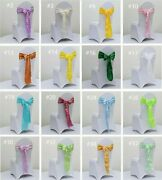 500 Satin Chair Sashes Ties Chair Bows Ribbons Wedding Birthday Party Decoration