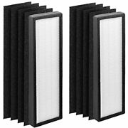 Altec Filters 2 Hepa Filters And 8 Carbon Active Pre-filters Replacement Filters C