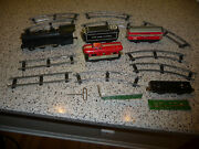Vintage Tin Marx New York Central Wind-up Train Set W/metal Engine And Track