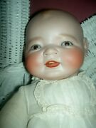 Rare Antique Bisque Character Baby Doll Signed Kestner Century Doll Co. Germany
