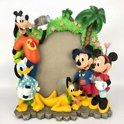 Disney Mickey Mouse Pin Trade Lanyard And Friends Picture Frame Pluto Goofy Donald