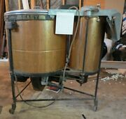 Antique 1920and039s Easy Copper Tub W/triple Plunger And Clothes Spin Dryer