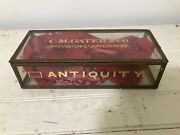 Antique Glass Cigar Box - Shop Display - C.m. Gater And Co, Brooklyn, New York