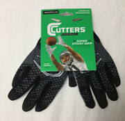 Cutters Football Game Day Receiver Gloves Super Sticky Grip Youth L / Xl S16