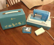 1960s Childs Sister Sewing Machine Mdl 25 Powers Up Lights Pedal Needs Repair.