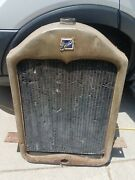 1920and039s Buick Grille Radiator And Cover Rare Antique Car Part