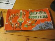 Vintage Saucer Yule Glo Bubble Lights C6 Yellow, Green, Red In Box