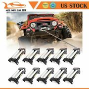 4 Way Fairlead Guide 10and039and039 Bolt Pattern Universal For 8000-13000lb Winch 10pcs