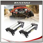 2x Winch Roller Fairlead 4 Way Roller Cable Guide 10 1pcs