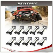10x Winch Roller Fairlead 4 Way Roller Cable Guide 10 1pcs