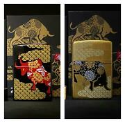 Year Of The Ox Asian Edition Set Of 2 Zippo Lighters Limited To 600 Worldwide