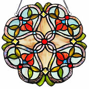 Flowering Vines Stained Glass Window Panel
